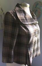 Isaac Mizrahi Women Natural Plaid Flair Coat Jacket School Office Work 18 Target