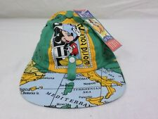 Vintage Mickey Mouse 1992 World Tour Map Hat Size Age 2-4 [ Brand New ]