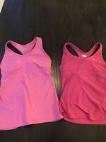 Nike Dri Fit Womens Set Of 2 Racerback Tank Top With Built In Sports Bra Size XS