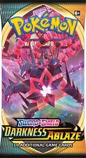 Darkness Ablaze Sword & Shield Booster Pack x1 Pokemon English Sealed Pre-Order