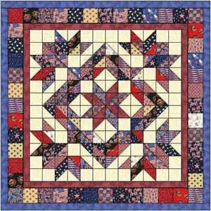 Quilt Kit Patriotic 4th of July Country Chic!!  Fabrics by  MDG