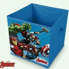 Caja de almacenaje juguetes Vengadores 28x28x28 cm. Deco habitación Avengers