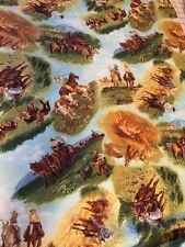 Western Cattle Drive Red River III cotton Fabric / yd  sewing quilting RJR