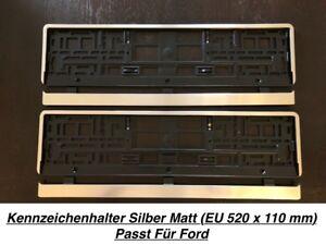 50 2x Kennzeichenhalter Nummernschildhalter Edelstahl Chrom Rostfrei Made in EU