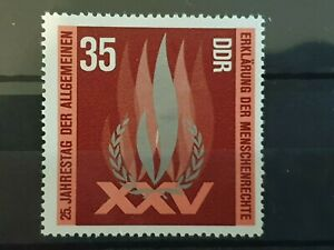 East Germany DDR 1973 25th Anniv of Declaration of Human Right 1 stamp  set  MNH