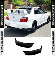 Subaru Impreza WRX STI Rear Bumper Pods Aprons Spoiler Extensions (02-07) PU