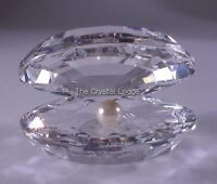 SWAROVSKI CRYSTAL SHELL WITH PEARL LARGE 014389 MINT BOXED RETIRED RARE