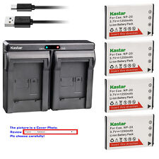 Kastar Battery Dual Charger for Casio Original NP-20 & Casio OEM BC-31L BC-11L