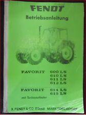 Fendt Favorit LS 600 , 610 , 611 , 612 & 614 , 615 mit Turboauflader Anleitung