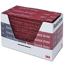 3M Scotch Brite 64659 Scuff Pads Very Fine Maroon Hand Sanding Pads 25/Box