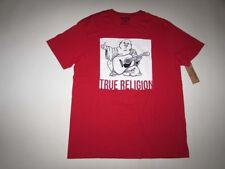 True Religion Men's TR Portrait Crew Neck T-shirt XXL Short Sleeves Red 2xl