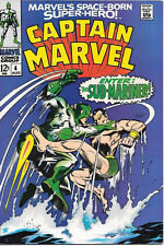 Captain Marvel Comic Book #4, Marvel Comics Group 1968 FINE/FINE+