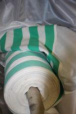 2 Meter Stoff 1,40 m breit Meterware gestreift Streifen gruen weiß