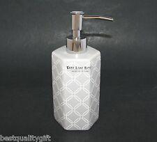 NEW WEST LAKE GRAY+WHITE HEXAGON CERAMIC KITCHEN,BATHROOM SOAP+LOTION DISPENSER