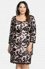 NWT ALEX EVENINGS NEW Black /Bluss Lace 3/4 Sleeve Coctel Dress Plus Size 22W