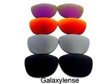 Galaxy Lentes De Repuesto Para Oakley Frogskins negro y gris y rojo y Púrpura