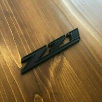 "New - Z71™ Full Matte Black Emblem Badge Chevy GM GMC Silverado Sierra HD 5"""