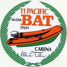 ADESIVO/STICKER * 11 PACIFIC - NUOVA BAT ITALIA - CARENA TULLIO ABBATE *
