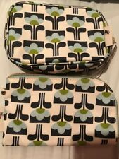 2 Orla Kiely Small Tulip Print Cosmetic Case Make Up Travel Bag Pouch