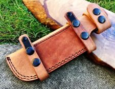 TITANs Premium Handmade Tan Leather Sheath 22 cm Bushcraft Camping Knives 1TN