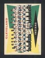 1960 Topps #174 Indians Team Checklist 89-176 EX+ Indians 110615