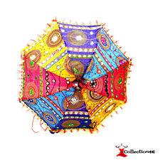 Decorative Indian Hand Embroidered Parasol Wedding  Beach Sun Shade Umbrella UK