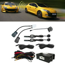LED Car Blind Spot Monitoring System Black Ultrasonic Sensor Distance Warning 1x