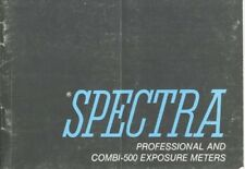 Spectra Professional and Combi-500 Meters Instruction Manual