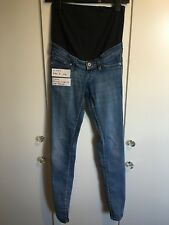 h & m size 8 over bump skinny maternity jeans light blue
