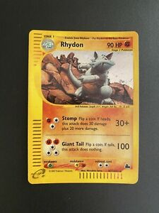 Rhydon H27 Rare Holo Skyridge 2003 Near Mint Pokemon Card