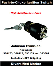 Outboard Ignition Off/On/Start 6 Terminal Key Switch with Push to Choke Function