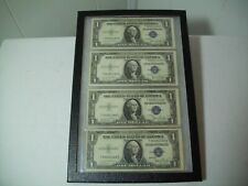 Lot of 4 1935 D $1 Silver Certificates Sequential #s US Blue Seal FRAMED