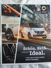 Smart Fortwo Cabrio lampe de poche Edition brochure JAN 2015 texte allemand