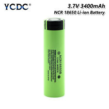 High Drain 20A NCR 18650B Li-ion Battery 3400mAh Cell For Vape Headlamp Torch