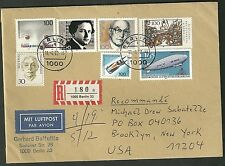 1992 Registered cover berlin germany to brooklyn new york