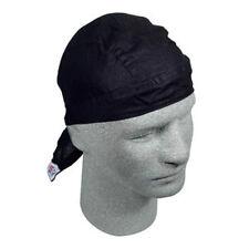 Solid Black Flydanna Durag Doo Rag Headwrap Skull Cap Biker Bandanna ATV Sports