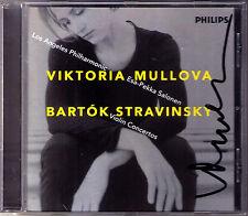 Viktoria MULLOVA Signiert  BARTOK & STRAVINSKY  Violin Concerto No.2 SALONEN CD