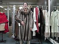MENS MANS RACOON RACCOON FUR COAT mink gift size 38/40