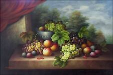 Quality Hand Painted Oil Painting Still Life with Table Fruits 24x36in