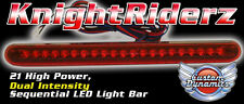 Universal + Harley * Knight Rider 21 LED Bar w. Flashing Brake Alert RED LB22