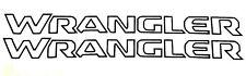 "2 Jeep WRANGLER Hood Decals Stickers Graphics Rubicon TJ JK CJ YJ 23"" x 2"" Vinyl"