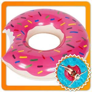 XXL Donut Schwimmreifen Aufblasbarer Schwimmring Schwimmhilfe Luftmatratze XXL