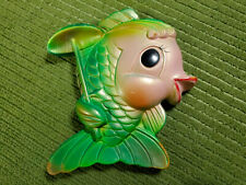 Vintage Miller Studio Chalkware Fish Girl 1969 Umbrella Beach Wall Plaque