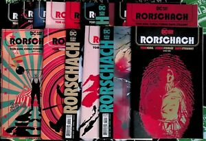 Rorschach #1-12 + Variants 2020 DC Comics Full Set Tom King Black Label