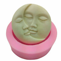 Moon Sun Soap Mold Flexible Silicone Mold For Candy Chocolate Cake Mould Decor