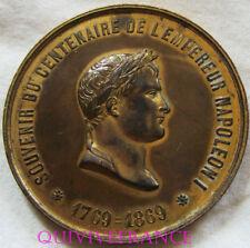 MED6397 - MEDAILLE SOUVENIR CENTEANIRE EMPEREUR NAPOLEON 1769-1869