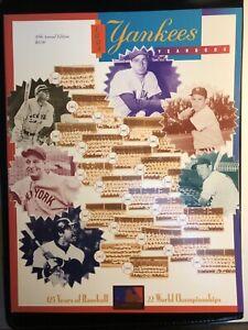 "1994 Yankees Yearbook Ruth Mantle ""On The Way Up"" Derek Jeter Mariano Rivera"