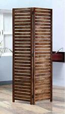 Indian Antique Furniture Handcraft Wooden Partition Screen Room Divider 2 Panels