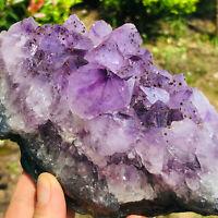 2.25LB Natural Amethyst geode quartz cluster crystal specimen Healing