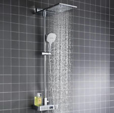 Digital Thermostatic Shower Set Multifunction Waterfall & Rainfall Shower System